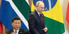 Le président chinois Xi Jinping et le président russe Vladimir Poutine durant le sommet des Brics, qui s'est tenu à Brasilia (Brésil), le 14 novembre dernier.