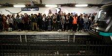Photo prise lors de la grève RATP du 13 septembre 2019 contre la réforme des retraites.
