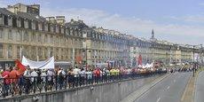 Manifestation contre la loi travail à Bordeaux.
