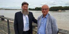 Philippe Mazière, dirigeant du Groupe Celios, et Thierry Lubrano, dirigeant d'Aquisystem, à Bordeaux.
