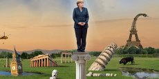 The Economist béatifie Angela Merkel (Image: Jon Berkely/The Economist/Reuters/alamy)