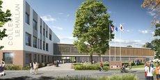 12 collèges seront construits et 10 réhabilités. Ici, le futur collège du Haillan dans la métropole bordelaise.