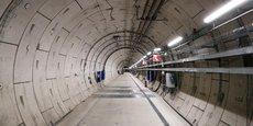Vue du tunnel sur le site souterrain de Bure (France) où est mené le projet Cigeo sur le stockage de déchets radioactifs sous la responsabilité de Agence nationale pour la gestion des déchets radioactifs (Andra).