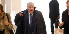 Paris, le 6 mai 2019. Didier Lombard, ex-PDG de France Télécom, lors de son arrivée au procès.