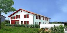 Le programme développé par la Coopérative foncière Aquitaine à Espelette (Pyrénées-Atlantiques) a été vendu à 2.000 €/m2, soit 40 % de moins que les prix du marché.
