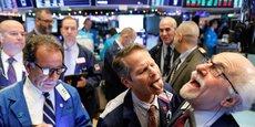 Des traders sur le parquet du New York Stock Exchange en décembre 2019.