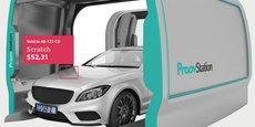 Le dispositif bardé de capteurs de ProovStation produit un rapport détaillé sur la voiture.