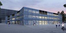 Visuel d'architecte de la future Halle de l'Innovation, dans le quartier Cambacérès
