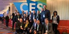 Les lauréats d'InVivo Quest à la 53ème édition du CES de Las Vegas, avec les équipes d'InVivo et de son partenaire Microsoft.