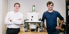 Aymeric Barthes et Gaëtan Séverac, fondateurs de Naïo Technologies, créent des robots électriques agricoles capables de désherber les cultures.
