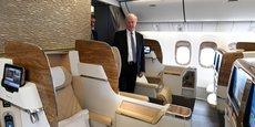 La décoration intérieure des avions est une des spécialités de Prodec Métal.