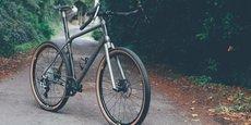 Le Gravel 1, vélo haut de gamme fabriqué par le catalan Caminade et exposé à l'Élysée