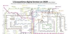Pour la quatrième année consécutive, West Web Valley a mis en ligne sa cartographie de l'écosystème numérique breton.
