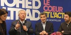 Entouré de son équipe, Mohed Altrad dévoile son programme et reçoit le soutien du sénateur LR Jean-Pierre Grand