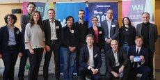 Le jury et les lauréats de l'étape de 10000 startups pour changer le monde à Lyon.