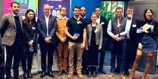 Le jury et les lauréats de l'étape de 10000 startups pour changer le monde à Lille.