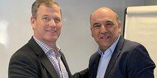 Greg Millard (président de VOGO North-America) et Christophe Carniel (P-dg de VOGO).
