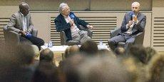 Didier Prince-Agbodjan et Joël Tronchon ont débattu autour de la question de la raison d'être des entreprises sur le campus de l'Ucly.