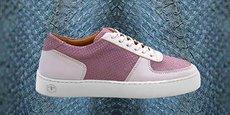 Les sneakers de la marque The String Brand sont fabriquées en cuir de thon.