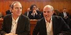 Xavier Niel, le propriétaire d'Iliad (Free), et Stéphane Richard, le PDG d'Orange.