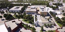 Le futur bâtiment SSR et gériatrie du CHU de Nîmes
