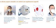 Certains vendeurs tiers sur Amazon profitent de la paranoïa pour vendre des produits bien au-delà de leur prix habituel.