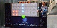 Vincent Raynaud propose ce mur digital à Toulouse, depuis début 2020, via son entreprise Digital-Events.