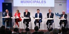 La Tribune, associée au Medef Haute-Garonne, a organisé le premier Grand Débat d'avant premier tour des élections municipales à Toulouse, jeudi 27 février.