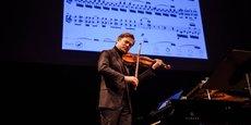 Le violoniste Renaud Capuçon, également investisseur de Digital Music Solutions, lors de la soirée de lancement de l'application NomadPlay à l'Opéra Comique, le 24 janvier 2020.