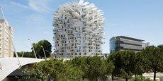 L'Arbre Blanc, sur les rives du Lez à Montpellier, est devenu un immeuble iconique.