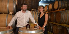 Sébastien et Céline Castan sont les dirigeants de la distillerie qui portent leur nom.