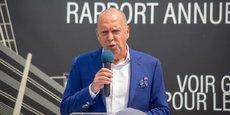 Thierry Taeymans, DG de Rawbank, lors de la présentation du rapport annuel 2018 de la banque.