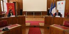 La présidente de Région, Carole Delga, et le préfet Étienne Guyot, ont présenté des mesures complémentaires pour soutenir le tissu économique, jeudi 19 mars à Toulouse.