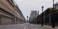 Une vue de la rue de Rivoli, à Paris, le 18 mars.