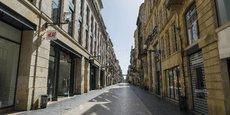 La rue Sainte-Catherine, comme toute le centre-ville de Bordeaux, est déserté depuis le 17 mars.