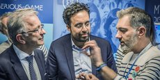 Frédéric Kuntzmann, ici en présence du président de la région Centre Val de Loire François Bonneau, et de l'ex secrétaire d'état chargé du numérique Mounir Mahjoub, a reçu pour son entreprise le 24 janvier la certification Ingénierie de formation digitale délivrée par l'Afnor.