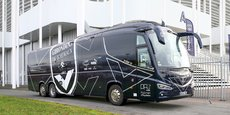 C'est ce bus du Football Club des Girondins de Bordeaux qui a convoyé ce jeudi les soignants néo-aquitains à Mulhouse.