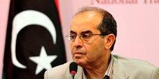 L'ancien chef de l'exécutif de transition libyen, Mahmoud Jibril, lors d'une conférence de presse à Benghazi, le 18 septembre 2011.