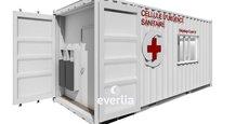 Everlia a conçu une cellule d'urgence sanitaire à base de containers maritimes recyclés.