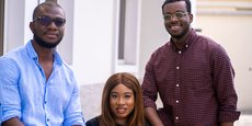 Dimeji Sofowora, Tito Ovia, Adegoke Olubusi, fondateurs de la startup Helium Health.