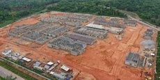 Le chantier du futur hôpital régional d'Adzope, à 105 km au d'Abidjan.