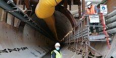 La cloche de métal (photo) est ce qui permet au tunnelier d'être étanche au démarrage du forage et d'éviter les fuites