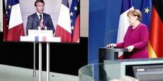 Conférence de presse commune d'Angela Merkel et Emmanuel Macron, le 18 mai 2020, Berlin / Paris.