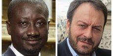 Patrice Anato, député LREM, Seine-Saint-Denis, et Pierre-Samuel Guedj, président d'Affectio Mutandi & d'Africa Mutandi.