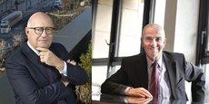 Bernard Sala, président de Routes de France, et Yves Krattinger, président du conseil départemental de Haute-Saône et président de l'Institut des routes, des rues et des infrastructures pour la mobilité (Iddrim).