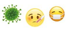Sur un échantillon de près de 50.000 tweets, les trois premiers emojis les plus souvent associés au Covid-19 furent le symbole « microbe » suivi par celui du « visage portant le masque », presque à égalité avec le « visage malade ».