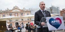 Le candidat aux élections municipales à Toulouse, Jean-Luc Moudenc, s'affiche comme le candidat de l'emploi.