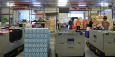 La plateforme logistique de la Banque alimentaire à Bordeaux Nord est restée opérationnelle pendant le confinement.