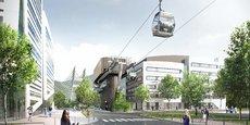D'ici 2024, le métrocable conçu par Poma devrait être mis en service pour relier les communes de Fontaine à Saint-Martin-le-Vinoux, en passant par la Presqu'île scientifique de Grenoble.