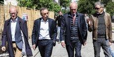 Jean-Luc Gleyze, Pierre Hurmic, Alain Rousset et Philippe Barre, le 12 juin à Darwin, à Bordeaux.